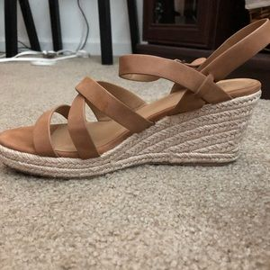 Cognac wedges — perfect for summer!